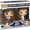 POP! Star Wars: The Empire Strikes Back 40th Anniversary - Han Solo & Princess Leia
