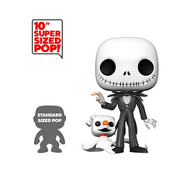 POP! Disney: The Nightmare Before Christmas - Jack with Zero (Super Sized)