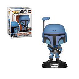 POP! Star Wars: The Mandalorian - Death Watch Mandalorian (Two Stripes) Edição Exclusiva