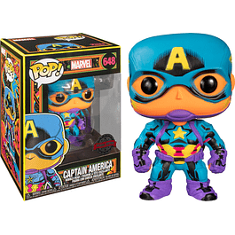 POP! Marvel Black Light: Captain America