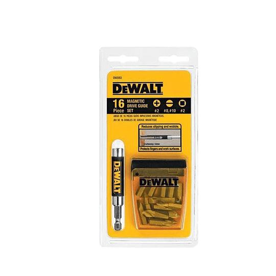 Juego Dewalt 16 pzs guía impulsadora magnética DW2053