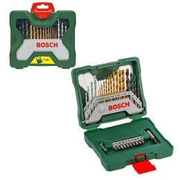 Set X-Line de 30 unidades con brocas y puntas de atornillar Titanium