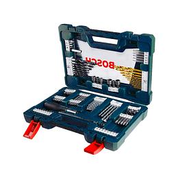 Maletín V-Line Con 91 Unidades Para Taladrar Y Atornillador Bosch