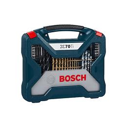 Maletín X-Line Con 70 Unidades Para Taladrar Y Atornillar Bosch