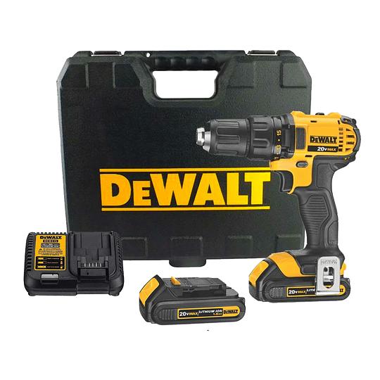 Taladro Atornillador 20v + 2 Baterías Dewalt Dcd780c2-b2