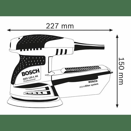 Lijadora Excéntrica Bosch Gex 125-1 Ae 250w