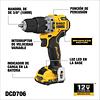 Kit Taladro Percutor 3/8 Dewalt 12v Dcd706f2-b2