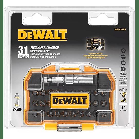 Set 31 Piezas Impact Ready®️ Flextorq Dewalt Dwax101ir