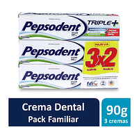 Pepsodent Triple+ Pack 3 x 90g