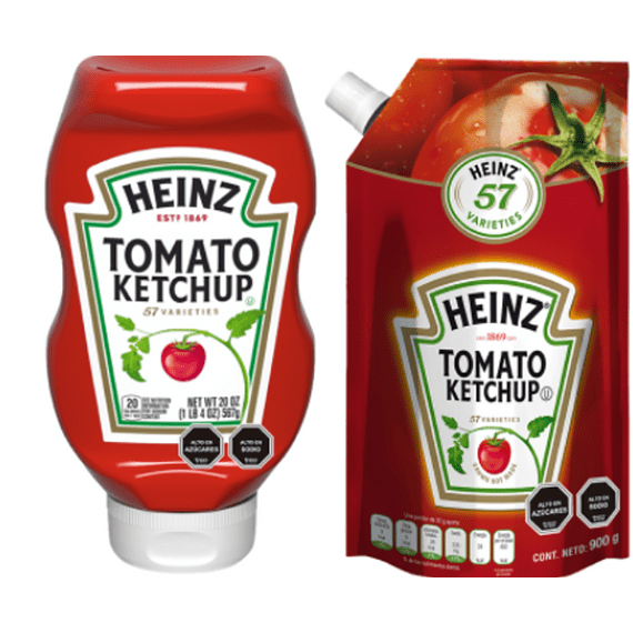 Ketchup Squeeze 567g + Doypack 900g