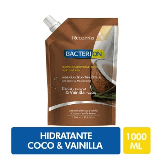 Bacterion Jabón Antibacterial Humectante Coco 1 L