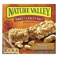 Nature Valley Barra Chewy Sweet and Salty Peanut 6 Unidades