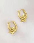 Aros Estrella Rústica Dorados