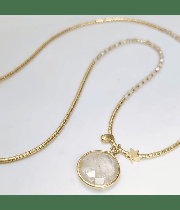 Collar Cristal y Piedra Luna