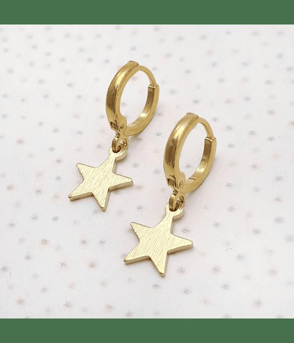 Aros argolla estrella