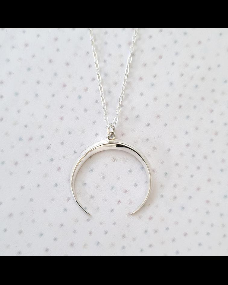 Collar Luna Creciente Plata M