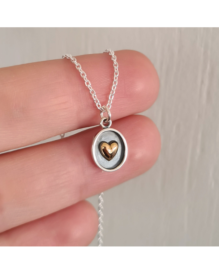 Cadena Corazón Ovalado