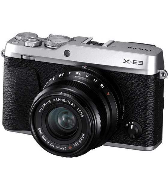 FUJIFILM KIT X-E3 SILVER + XF 23mm F2 R WR Mirrorless
