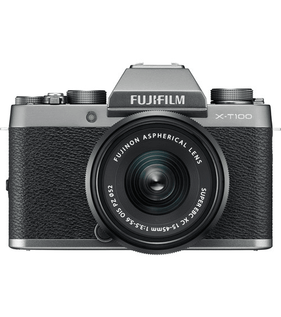 FUJIFILM KIT X-T100 DARK SILVER + XC 15-45mm F3.5-5.6 OIS ZP Mirrorless