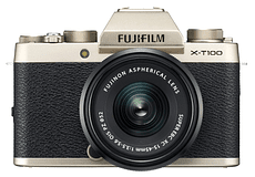 FUJIFILM KIT X-T100 CHAMPAGNE + XC 15-45mm F3.5-5.6 OIS ZP Mirrorless