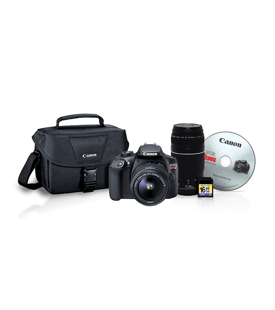 CANON KIT EOS REBEL T6 PREMIUM+EF 18-55mm+EF 75-300mm