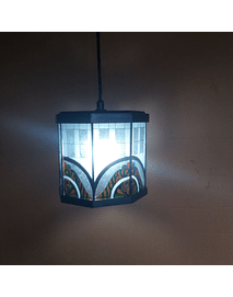 stained glass imitation lamp