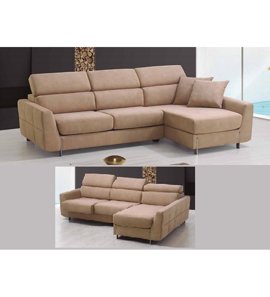 Sofá Chaise Stefan 3 Lugares