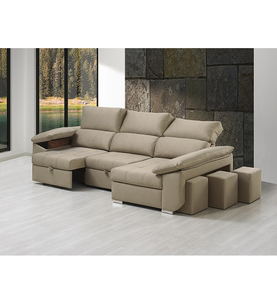 Sofá Chaise Long Robson 3 Lugares