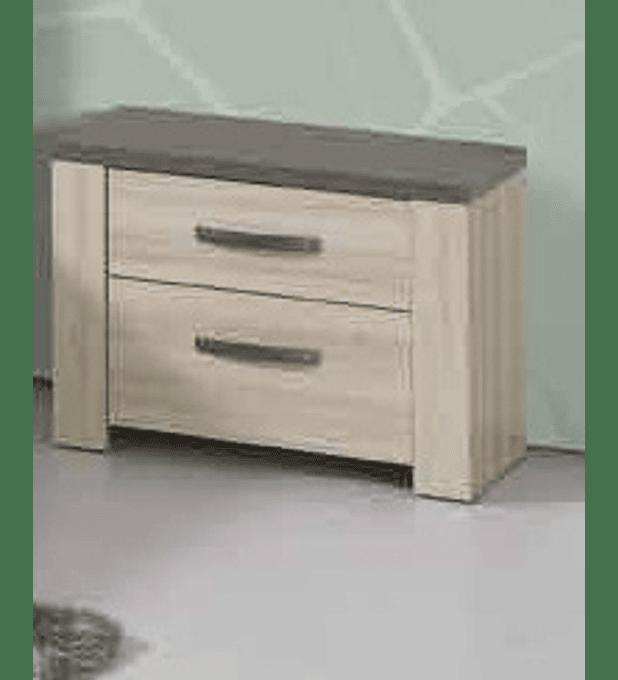 2 Mesas de Cabeceira Estoril Oak