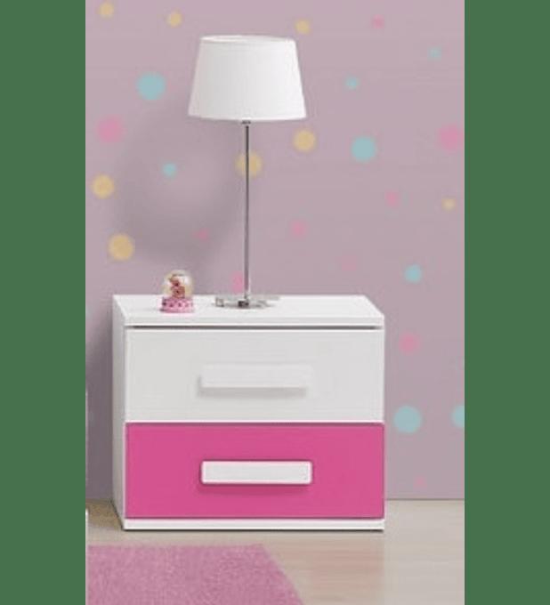 Mesa Cabeceira Play Branco Rosa