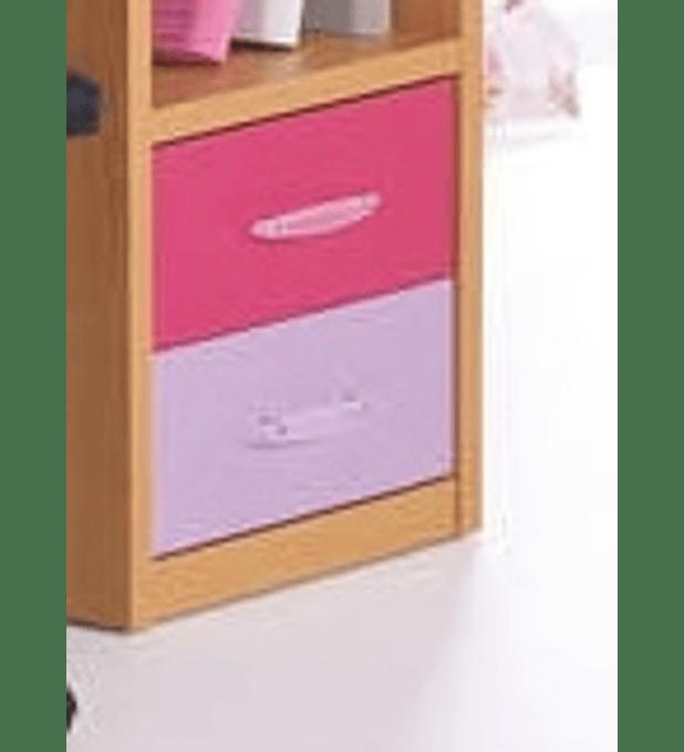 Mesa de Cabeceira Kids Branco Lilás Rosa