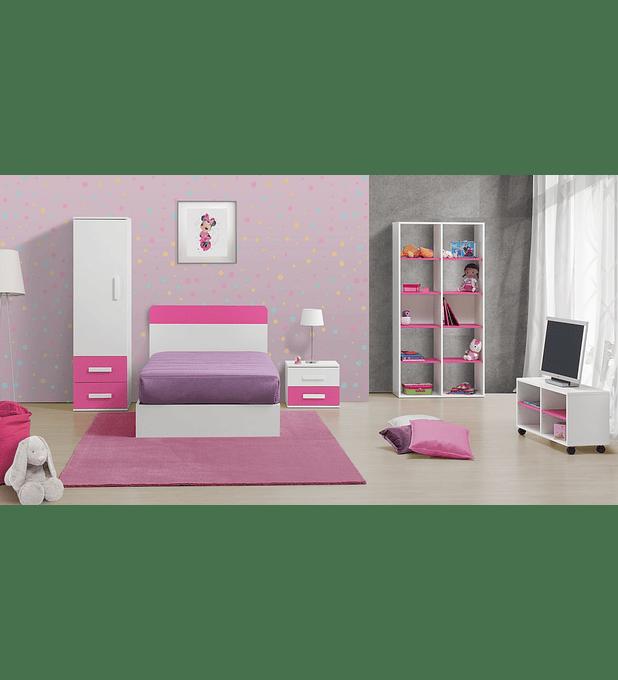 Quarto Criança Completo Play Branco Rosa