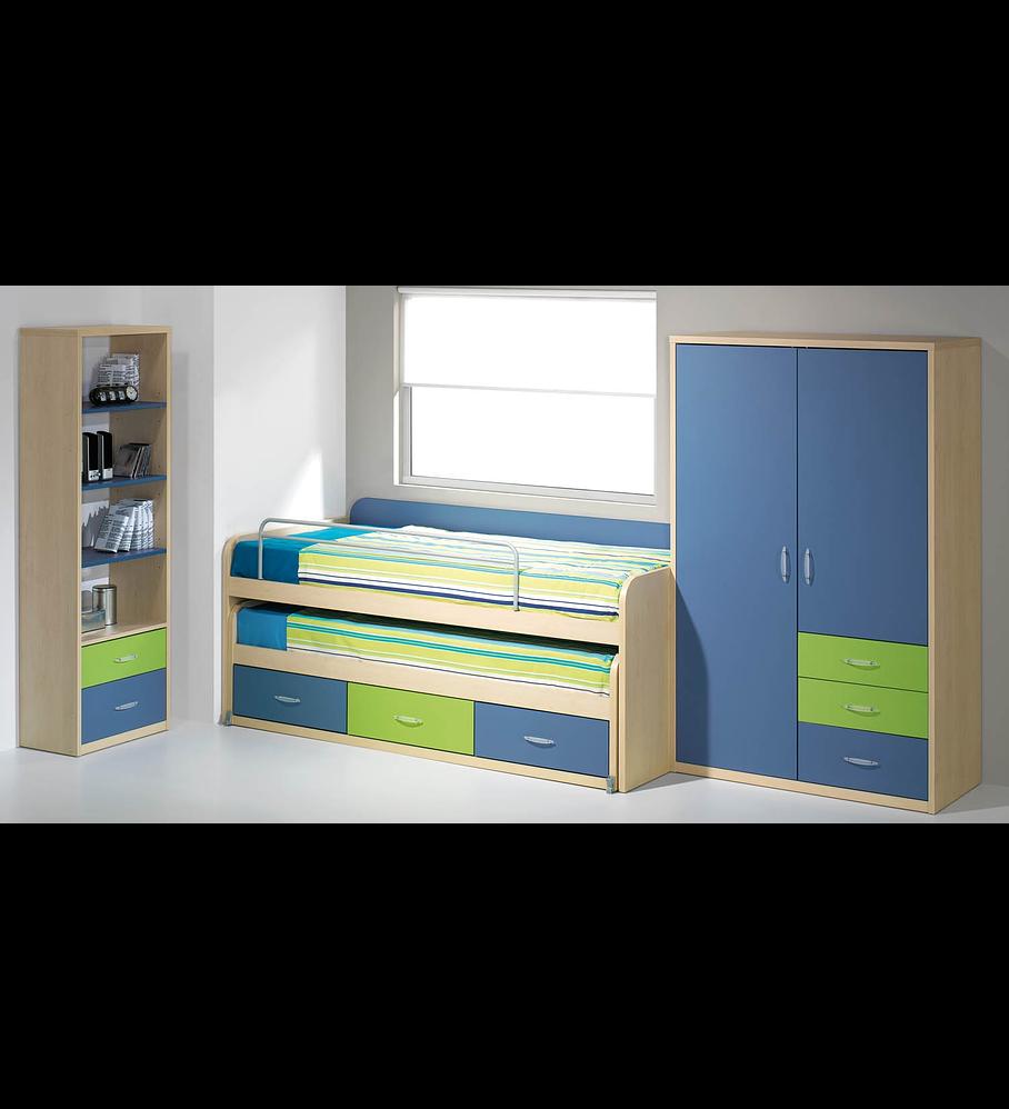 Quarto Criança Completo Kids Maple Azul Verde