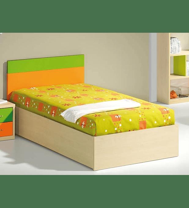 Cama Estúdio Kids Maple Laranja Verde