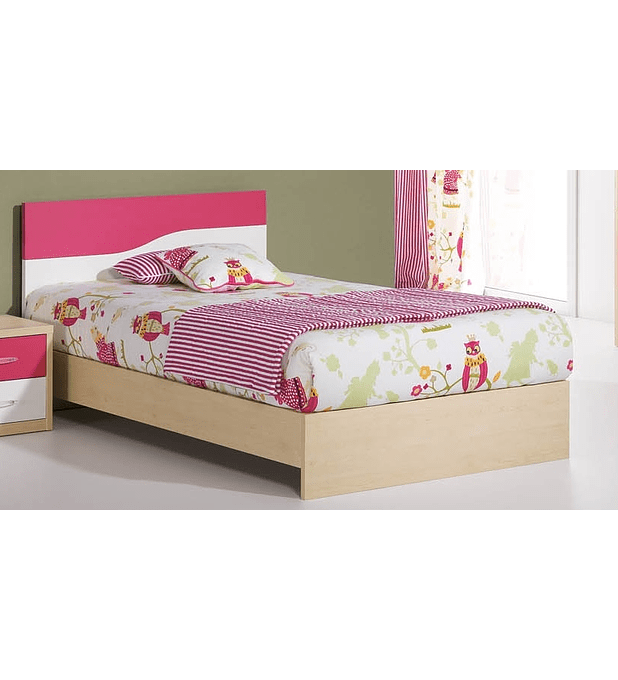 Cama Kids Maple Branco Rosa