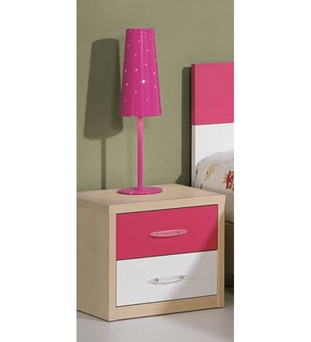 Mesa Cabeceira Kids Maple Branco Rosa