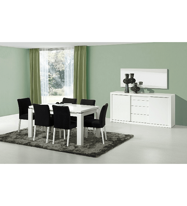 Sala de Jantar Completa Baviera Branco