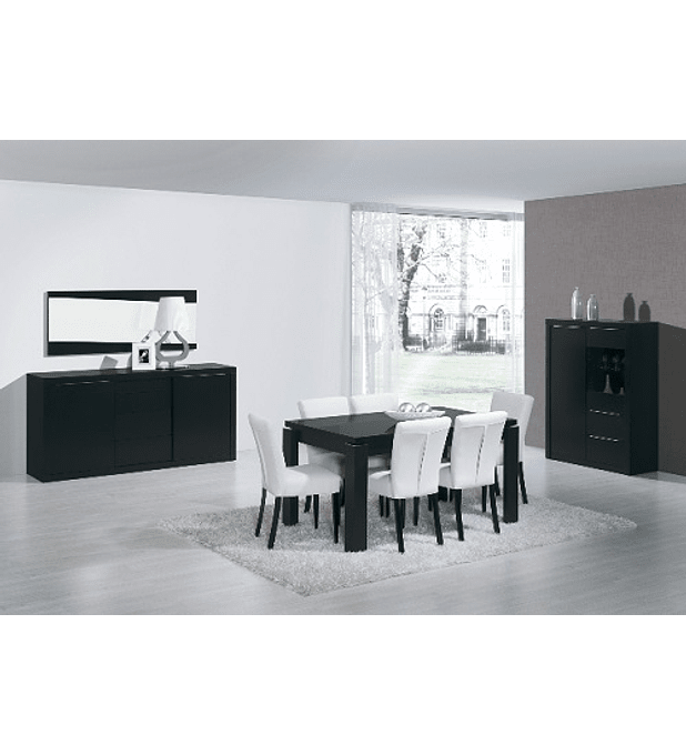 Sala de Jantar Completa Baviera Preto