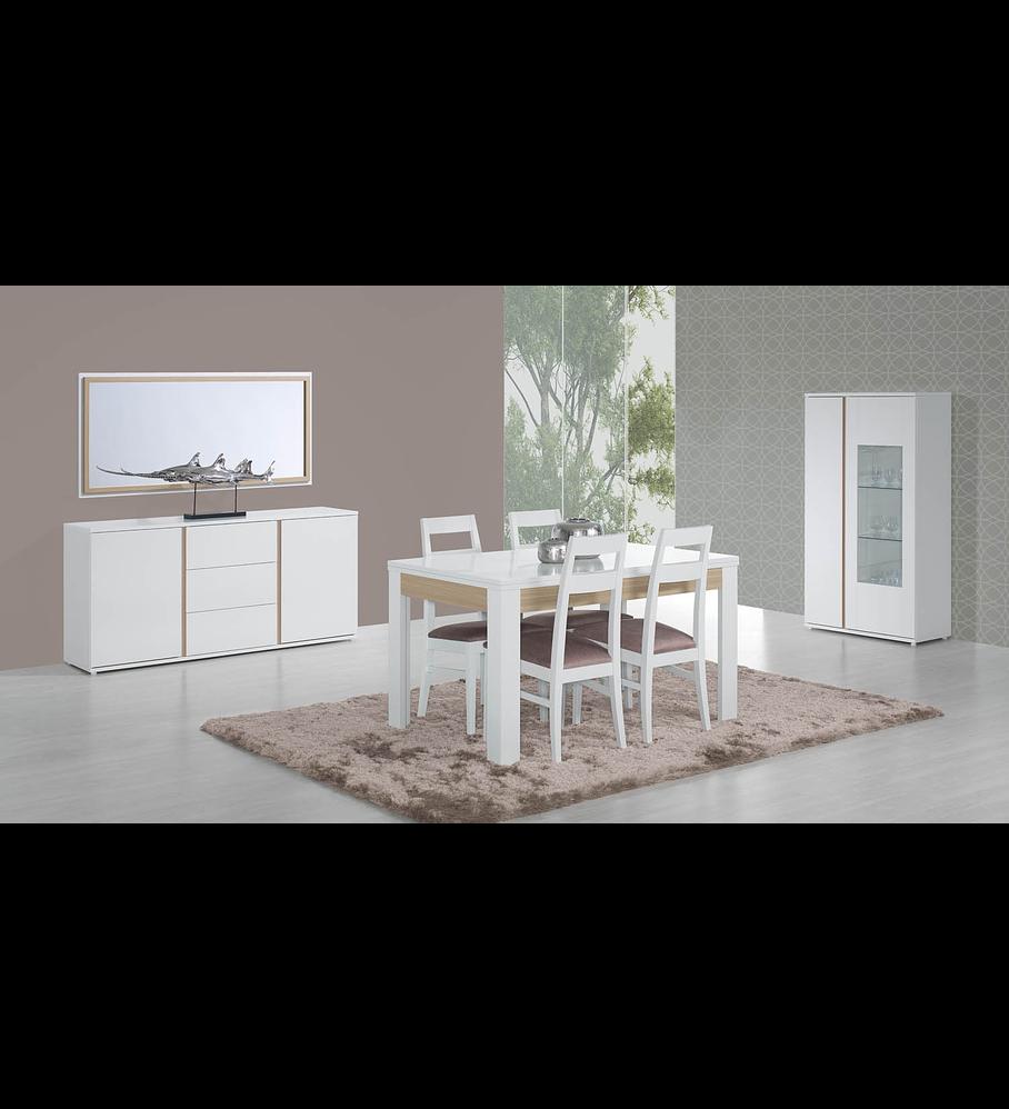 Sala de Jantar Completa Chiado Branco Carvalho
