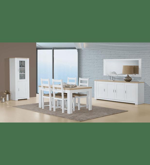 Sala de Jantar Completa Florença Branco Carvalho