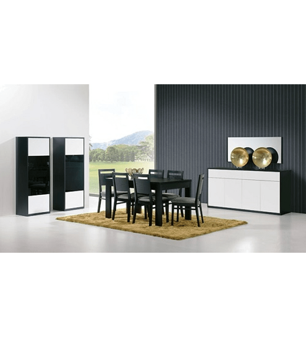 Sala de Jantar Completa Olimpo Preto