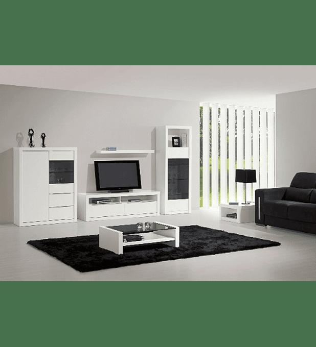 Sala de Estar Completa Baviera Branco