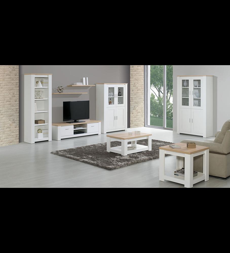 Sala de Estar Completa Florença Branco Carvalho