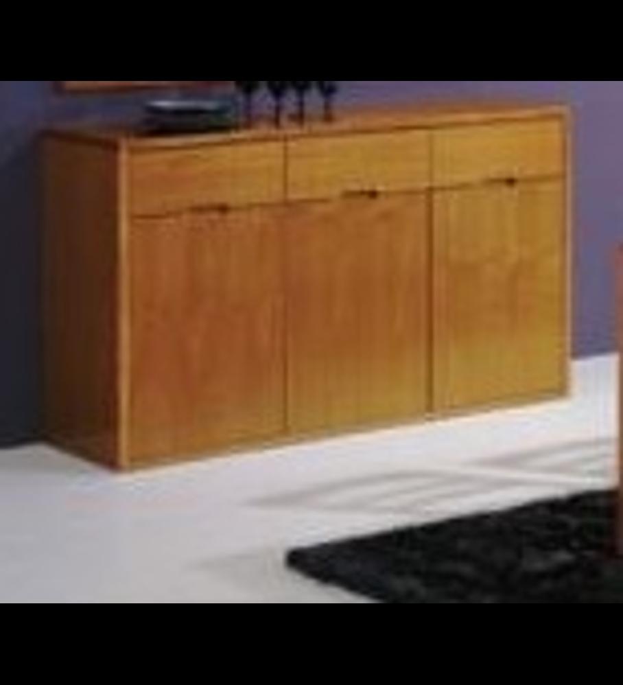 Aparador Tróia Pinho Escurecido 3 portas