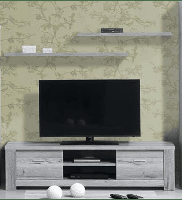 Base TV Florença Cinza Rústico