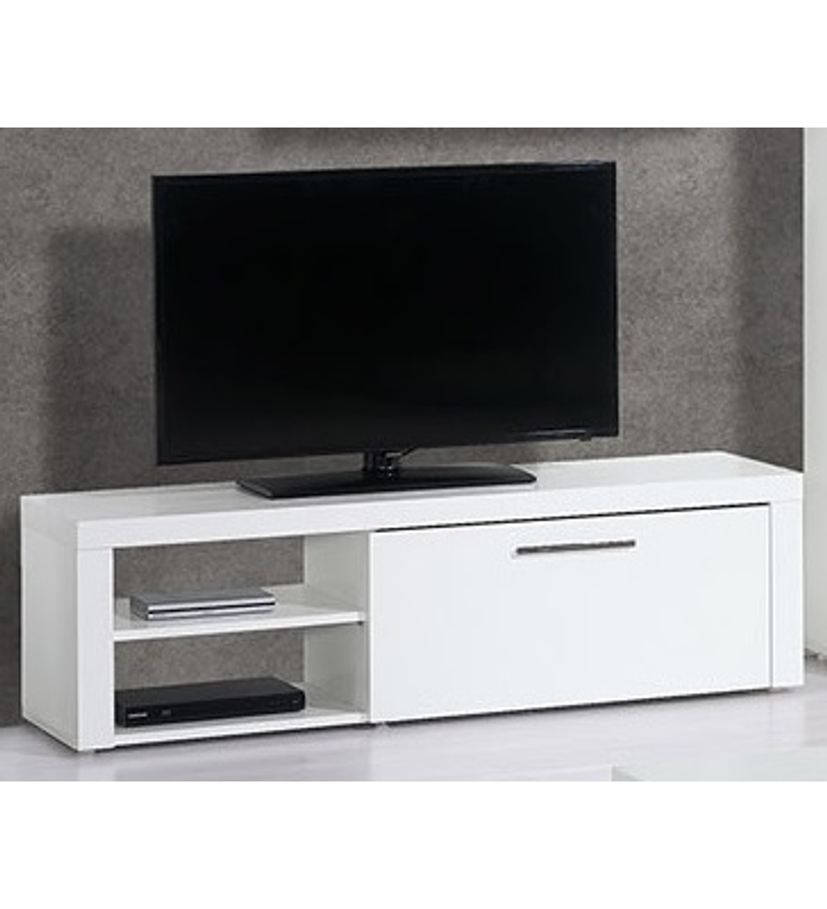 Base TV Mónaco Branco 150cm e 1 Gaveta