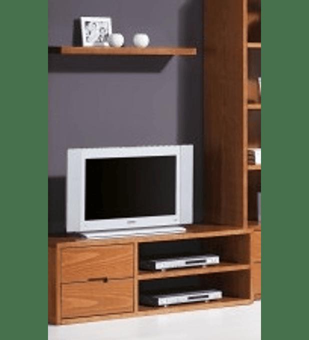 Base TV Tróia Pinho Escurecido 130cm