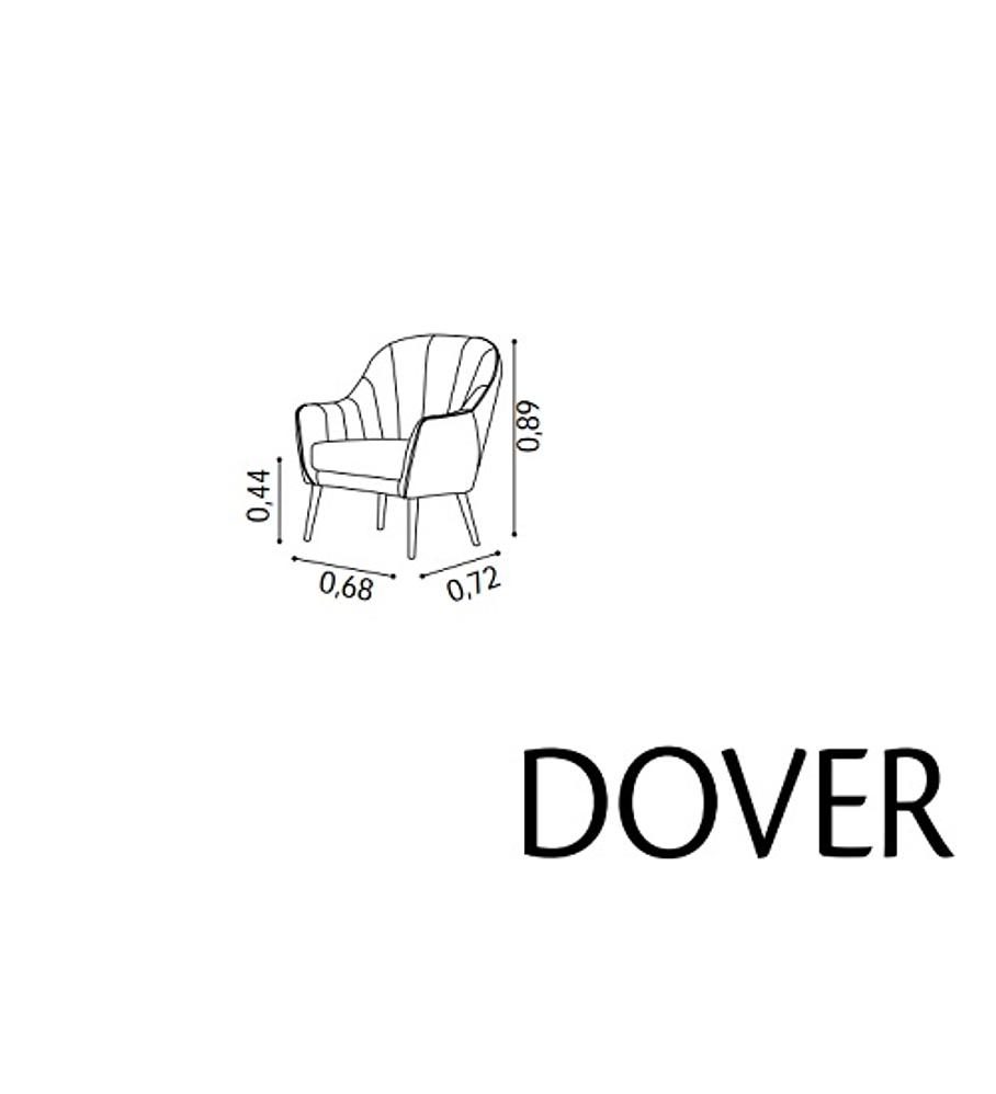 Cadeirão Dover Florença Branco Carvalho