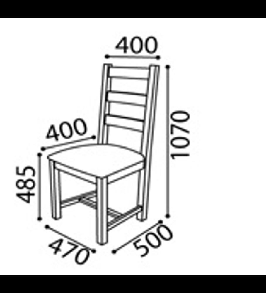 Cadeira Serpa Florença Branco Carvalho