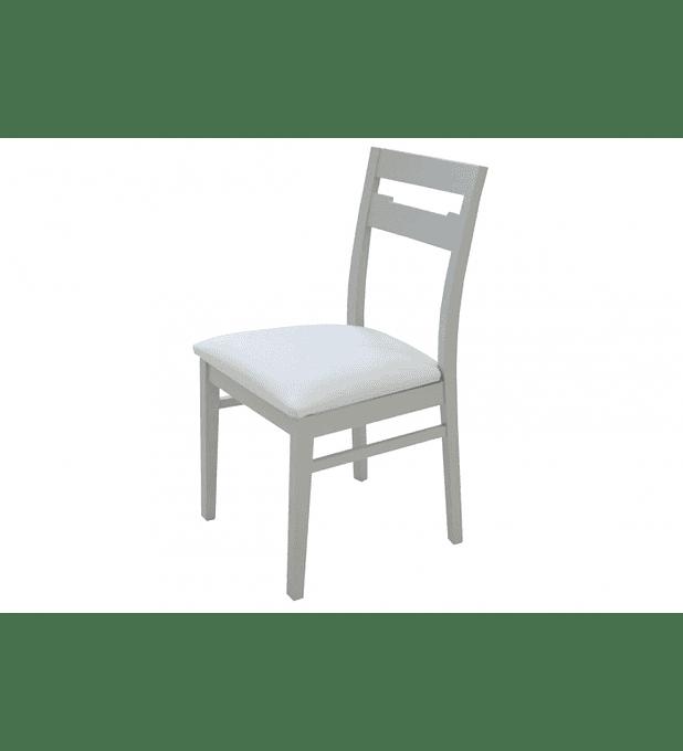 Cadeira Viena Cinza Branco